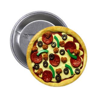子供ピザ誕生会 5.7CM 丸型バッジ