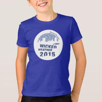 子供悪賢い天候によって着色されるT Tシャツ