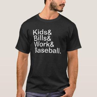 子供手形の仕事の野球 Tシャツ