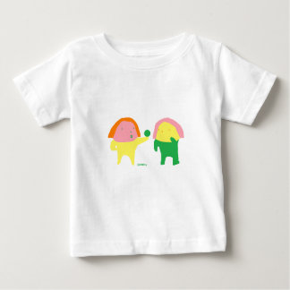 子供服はかわいいエクモチのちびちゃん ベビーTシャツ