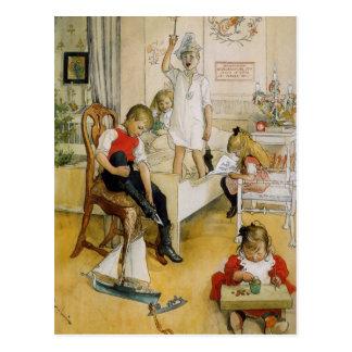 子供部屋のクリスマス ポストカード