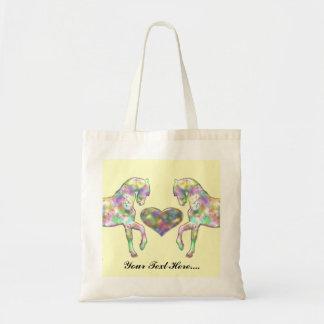 子供馬および愛ハート トートバッグ