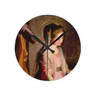 子供1597年の崇敬 壁時計