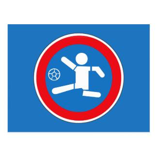 子供、交通標識、アルゼンチンを演じる注意 ポストカード
