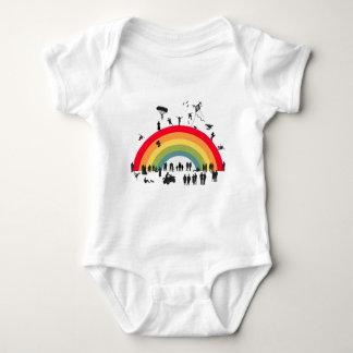(子供)虹に ベビーボディスーツ