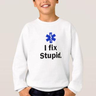 子供EMT私は愚か固定します スウェットシャツ