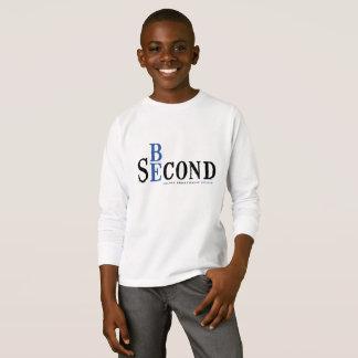 子供LSの白のワイシャツ Tシャツ