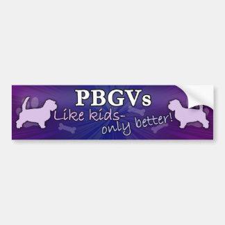 子供PBGVよりよくして下さい バンパーステッカー