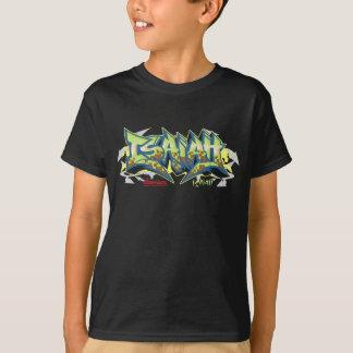 子供Streetwear: アイザイアの落書き Tシャツ