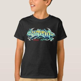 子供Streetwear: ジャスティンの落書き Tシャツ