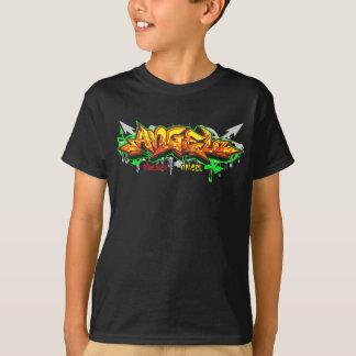 子供Streetwear: 天使の落書き Tシャツ