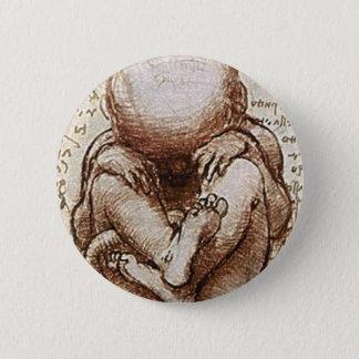 子宮の詳細の胎児の眺め 5.7CM 丸型バッジ