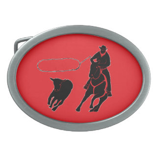 子牛のロープをかけること 卵形バックル