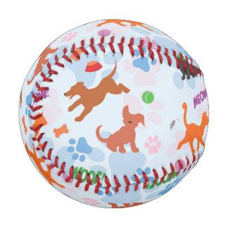 子犬および子ネコ 野球ボール