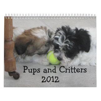 子犬および生き物2012年 カレンダー