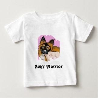 子犬が付いているかわいいベビーのティー ベビーTシャツ