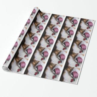 子犬のキスの包装紙 ラッピングペーパー