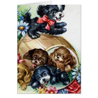 子犬のバレル カード