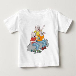 子犬のパック ベビーTシャツ