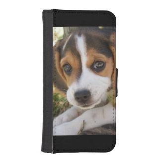 子犬のビーグル犬 iPhoneSE/5/5sウォレットケース