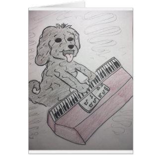 子犬のピアノ カード