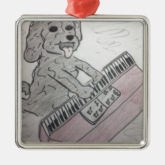 子犬のピアノ メタルオーナメント