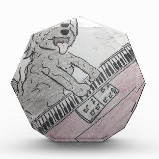 子犬のピアノ 表彰盾