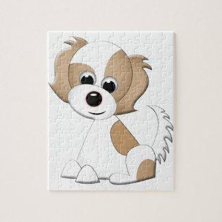 子犬のベクトルイラストレーション ジグソーパズル