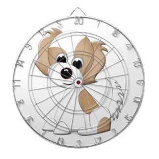 子犬のベクトルイラストレーション ダーツボード