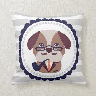 子犬のポートレートの枕 クッション