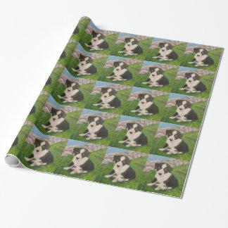 子犬の包装紙 包装紙