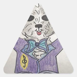 子犬の巨匠 三角形シール