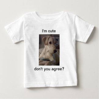 子犬の思考 ベビーTシャツ