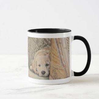 子犬の昼寝 マグカップ