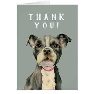 子犬の目の水彩画の絵画は感謝していしています カード