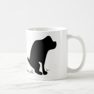 """""""子犬の製造所で排泄します"""" コーヒーマグカップ"""