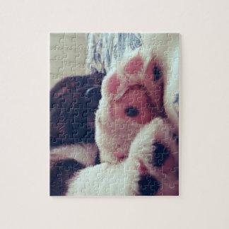 子犬の足のパズル ジグソーパズル