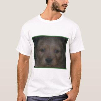 子犬の顔-抵抗できないゴールデン・リトリーバー Tシャツ