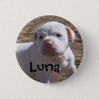 子犬を救われるルナ 5.7CM 丸型バッジ