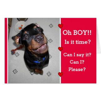 子犬I Wuffのバレンタインデーカード カード