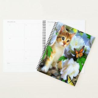 子猫および蝶 プランナー手帳