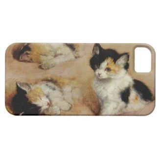 子猫が目を覚ます iPhone 5 カバー