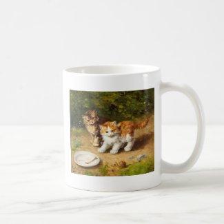 子猫とカタツムリ コーヒーマグ