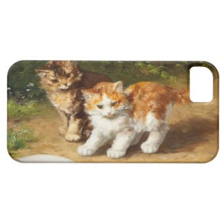 子猫とカタツムリ iPhone 5 カバー