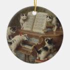 子猫とピアノ セラミックオーナメント
