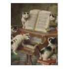 子猫とピアノ ポストカード