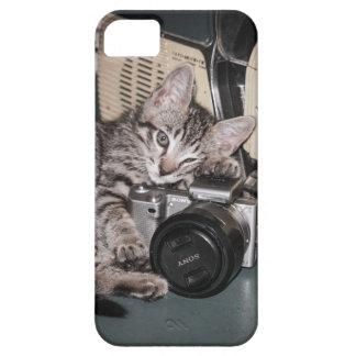 子猫のカメラマン iPhone SE/5/5s ケース