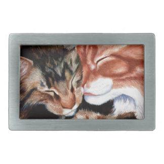 子猫のキス 長方形ベルトバックル