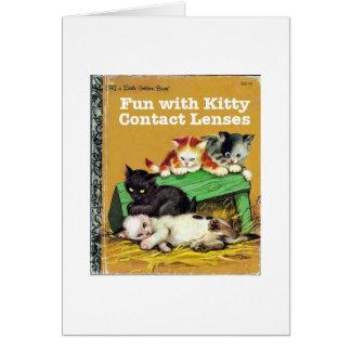 子猫のコンタクトレンズ カード
