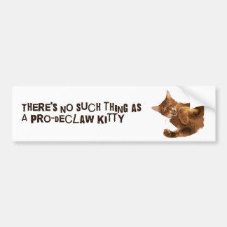 子猫のバンパーステッカーの爪を除かないで下さい バンパーステッカー